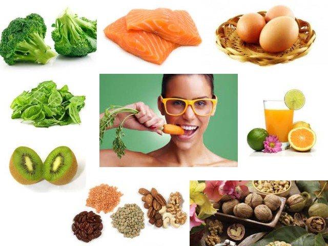 Пища должна быть богата витаминами и минералами
