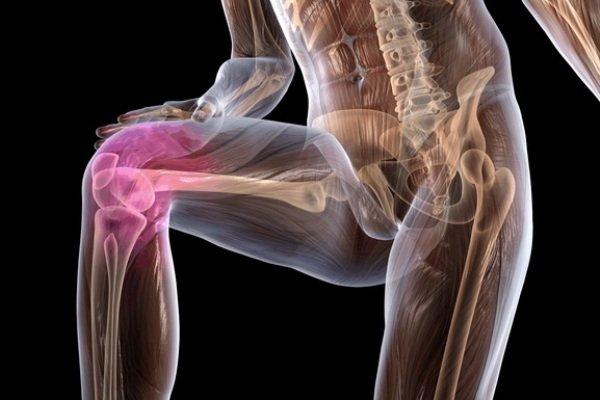 Колено изменяет свою форму (деформация), движения в нем резко ограничены, мышцы голени на пораженной стороне постепенно атрофируются