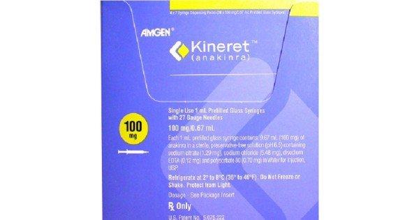 Кинерет используется для лечения среднетяжелых и тяжелых форм ревматоидного артрита