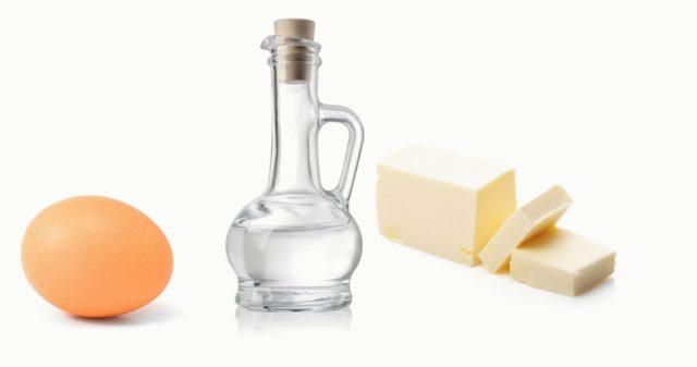 Мазь яйцо уксусная эссенция сливочное масло
